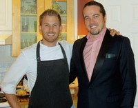 Chris Shaften with Krafty Kitchen and Bar Co-owner Philippe Grandbois